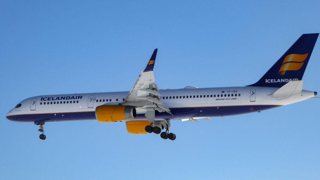 Iceland cargo on B757 service
